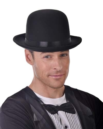 Deluxe Bowler Hat with Inner Elastic