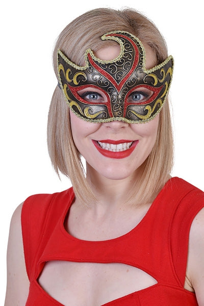 Gold and Red Eye Mask