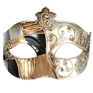 Metallic Vintage Warrior Masquerade Mask
