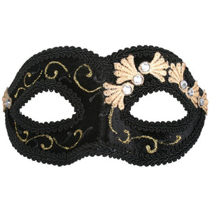 Black and Gold Velvet Eye Mask