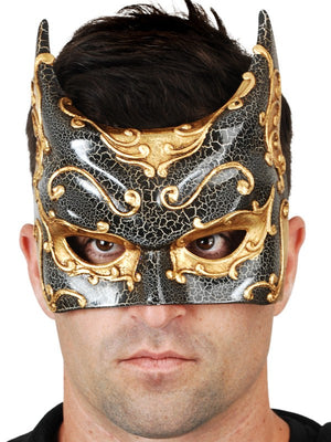 Black and Gold Batman Gotham Mask