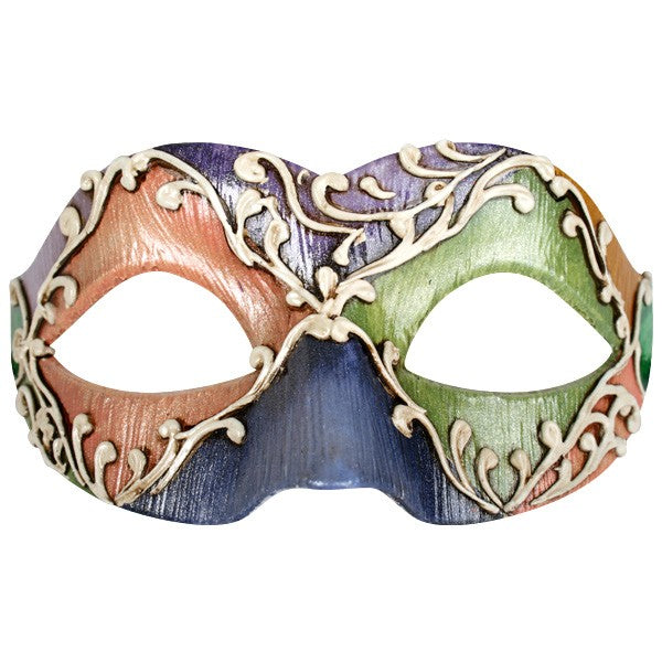 Colourful Jester Eye Mask
