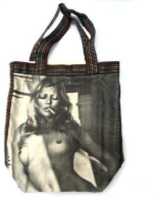 Kate Moss Canvas Tote Bag