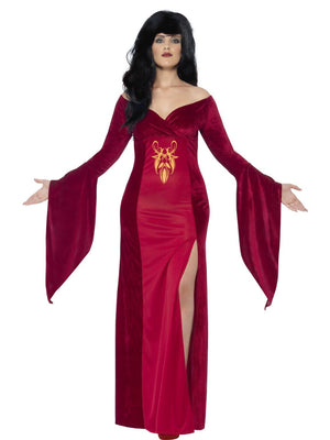 Plus Size Deep Red Medieval Dress