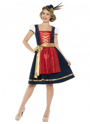 Deluxe Red and Navy Dirndl