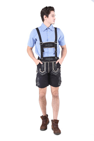 Blue and Black Men's Deluxe Oktoberfest Costume