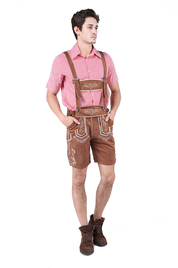 Red and Brown Men's Deluxe Oktoberfest Costume
