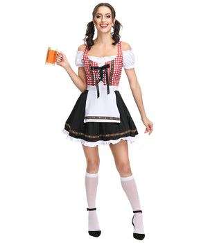 Cute Red Checked Dirndl
