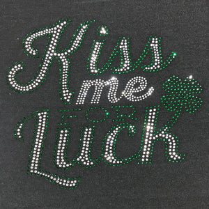 Saint Patrick's Day Kiss Me For Luck Ladies Singlet