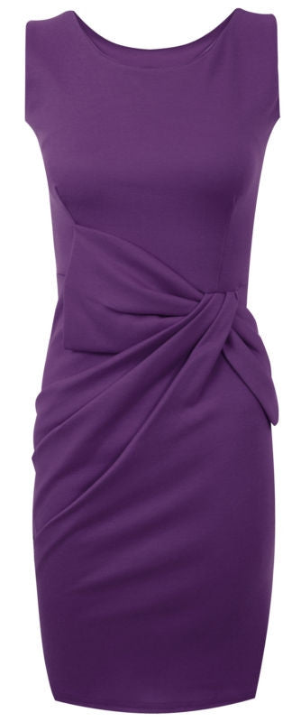 Purple Satin Wiggle Dress - Plus Size