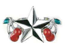 Nautical Star & Cherries Ring