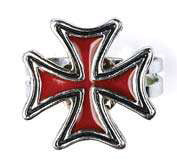 Red Iron Cross Ring