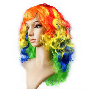 Curly Rainbow Party Wig