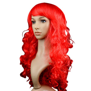 Curly Red Party Wig