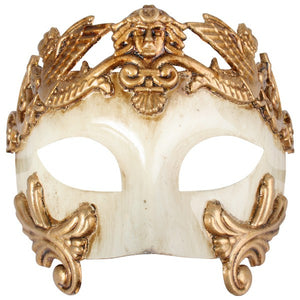 Gold Men's Roman Mask