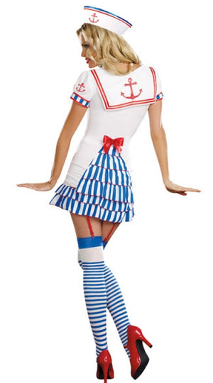 Ruffled Sailor Dress