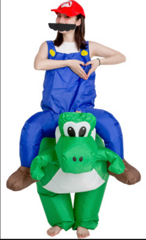 Mario Bros Yoshi Inflatable Ride On Costume