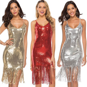 Sexy Sequin Flapper Dress