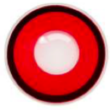 Solid Red Black Rim Contact Lenses