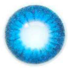 Natural Two Tone Blue Contact Lenses
