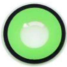 Solid Green Black Rim Contact Lenses