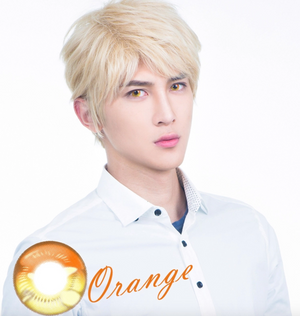 Orange Anime Contact Lenses