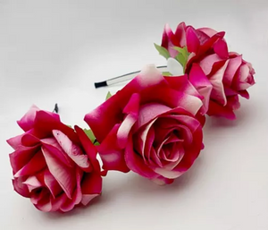 Deep Pink Rose Headband