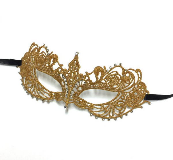 Gold Lace Masquerade Mask