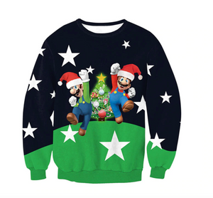 Mario and Luigi Christmas Jumper