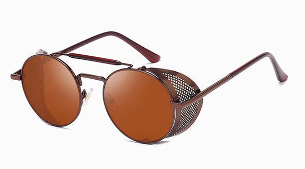 Brown Retro Round Glasses