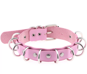 Baby Pink and Silver Ring Collar