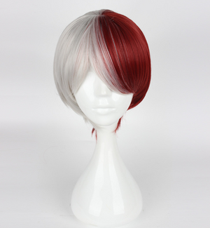 My Hero Academia Boku no Hiro Akademia Shoto Todoroki Red and White Wig