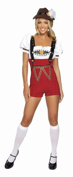 Women's High Waisted Lederhosen