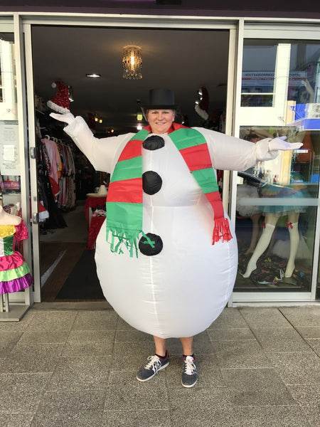 Christmas Snowman Inflatable Costume Perth Hurly Burly
