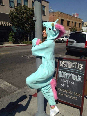Blue and Pink Unicorn Onesie