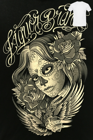 Liquorbrand: Sugar Skull Lady Men's T-Shirt