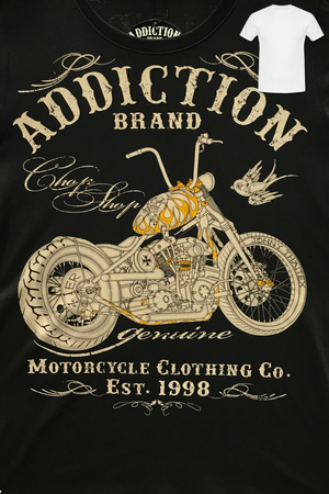 Addiction: Chop Shop Motorcycle Men's T-Shirt