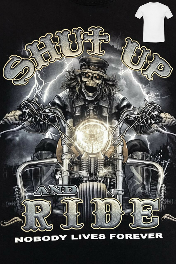 Shut Up & Ride Glow in the Dark Tee