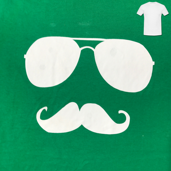 Glasses and Mo Green Men's T-Shirt