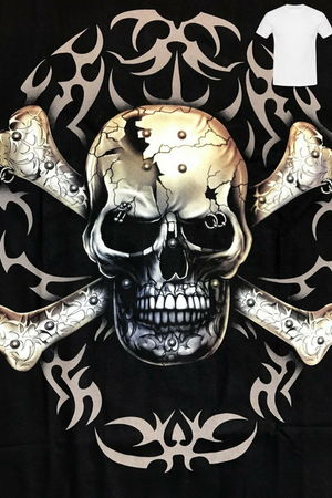 Skull and Cross Bones Glow in the Dark Tee