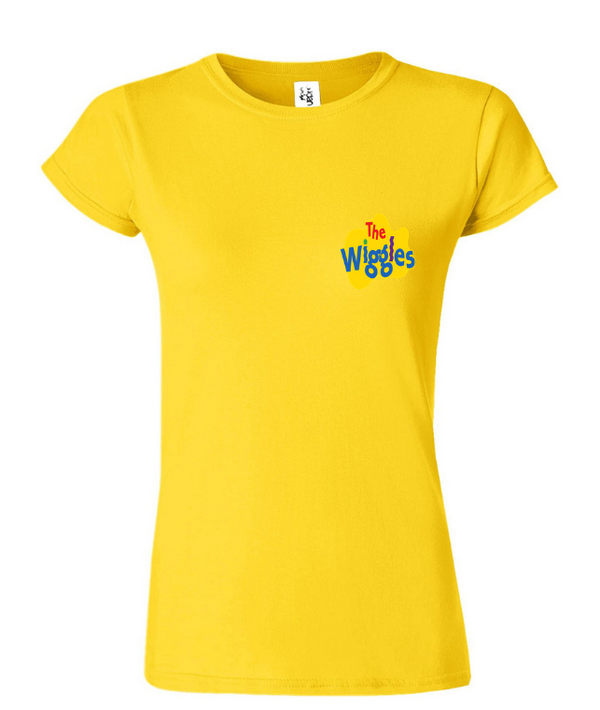 The Wiggles: Yellow Short Sleeved Ladies T-Shirt