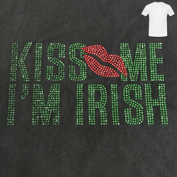 Kiss Me I'm Irish Ladies T-Shirt