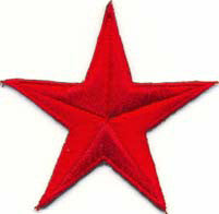 Red Nautical Star Iron on Patch