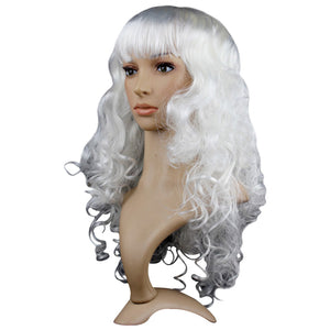 Curly White Party Wig