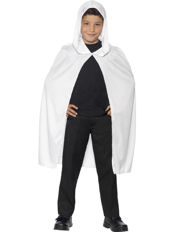 White Velvet Hooded Cape