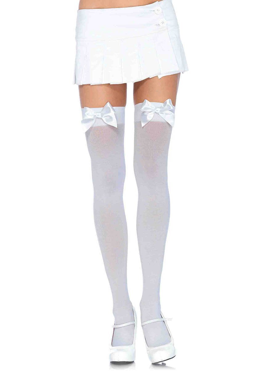 9de3e67b2dbab4 White Thigh Highs with White Bows Perth | Hurly Burly - Hurly Burly ABN  77080872126