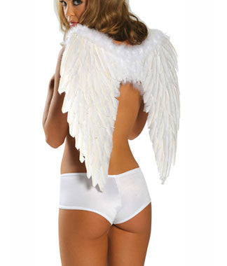 55cm White Angel Wings
