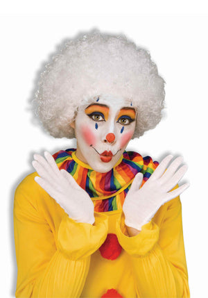 White Afro Clown Wig