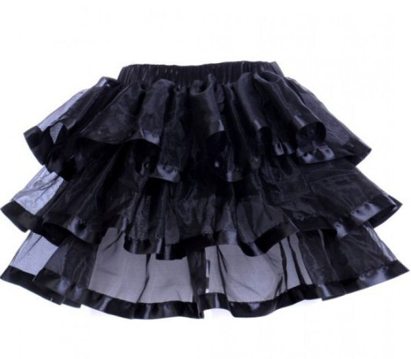 Tiered Tutu Black with Black Trim