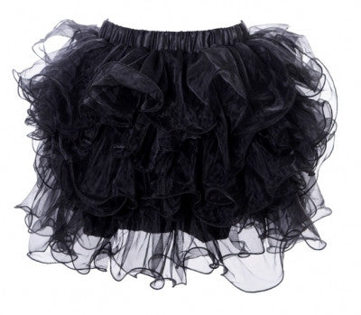 Scalloped Tutu Black